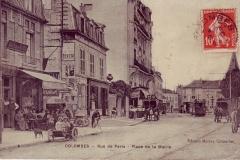 carte-postale-rue-de-paris-place-de-la-mairie