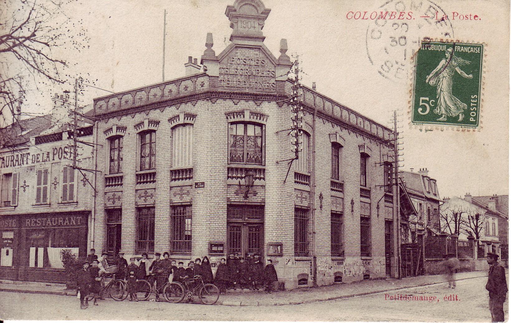 La poste de la rue de l 39 orme colombes notre ville - Bureau de poste colombes ...