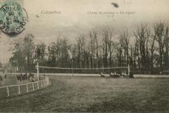 Carte postale - Un départ au champ de course de Colombes..