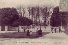 Carte postale - Le champ de course de Colombes.