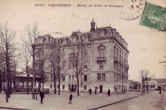 carte-postale-hotel-de-ville-colombes-et-kiosque