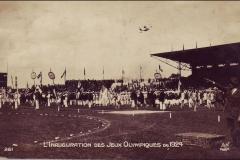 Carte postale de l'inauguration des Jeux Olympique 1924.