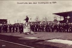 Carte postale des Jeux Olympique 1924 - cérémonie d'ouverture.