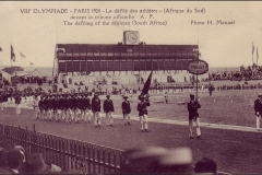 Carte postale des Jeux Olympique 1924 - Défilé de l'Afrique du Sud.