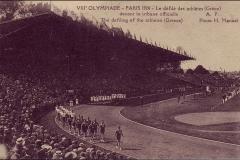 Carte postale des Jeux Olympique 1924 - Défilé de la grèce.