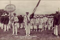 Carte postale des Jeux Olympique 1924 - L'équipe de France.