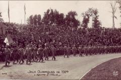 Carte postale des Jeux Olympique 1924 - L'équipe d'Italie.