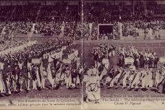 Carte postale des Jeux Olympique 1924 -Vue de l'ensemble lors de la cérémonie d'ouverture au stade de Colombes.