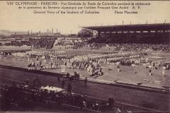 Carte postale des Jeux Olympique 1924 -Vue générale stade de Colombes pendant la cérémonie d'ouverture.