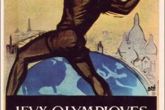 Carte postale de l'affiche officielle des Jeux de 1924 à Paris.
