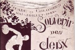 Carte postale souvenir des jeux Olympiques de 1924.