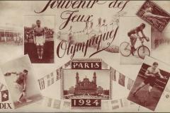 Carte postale souvenir des jeux Olympique de Paris 1924.