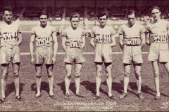 Carte postale Jeux Olympique 1924 - Equipe de france 3000m.
