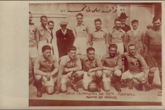 Carte postale Jeux Olympique 1924 - Equipe de France de football.