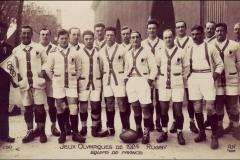 Carte postale Jeux Olympique 1924 - Equipe de France de Rugby.