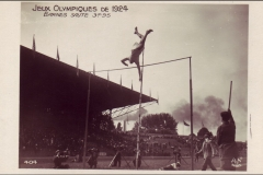 Carte postale Jeux Olympique 1924 - Saut en hauteur.