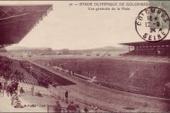 Carte postale Stade Olympique de Colombes - Vue générale de la piste.