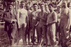 Carte postale Jeux Olympique 1924 - Equipe de france de Water-polo.