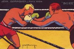 Jeux Olympiques de Paris 1924 - Carte postale Pautauberge - Boxe.
