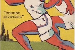 Jeux Olympiques de Paris 1924 - Carte postale Pautauberge - Course de vitesse..