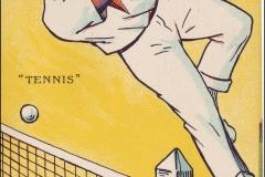 Jeux Olympiques de Paris 1924 - Carte postale Pautauberge - Tennis.