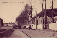 Carte postale - Le stade et la rue Paul Bert.