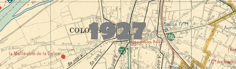 Carte industrielle de la Seine en 1927.