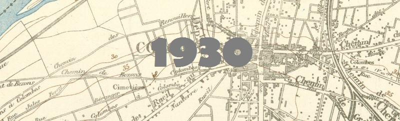 Carte du département de la Seine en 1930.