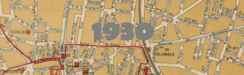 Plan de la ville de Colombes en 1930