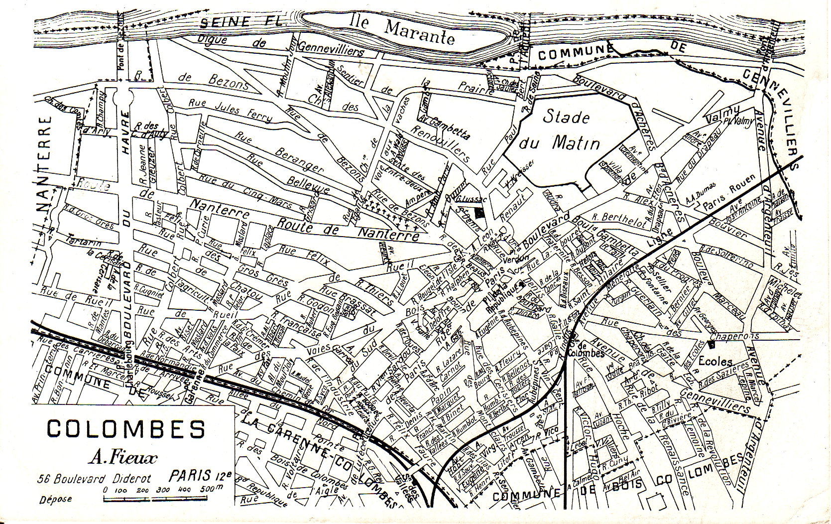 Plan de Colombes en 1936.