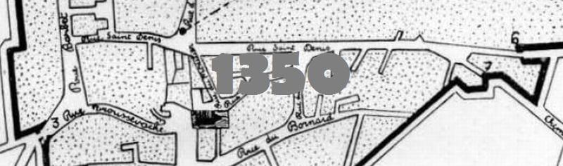 Plan du bourg de Colombes au XIVe siècle