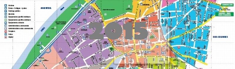 Plan de la localité Colombes en 2015.